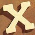 Medinė raidė X